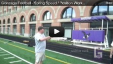 Gonzaga Football - Spring Speed _ Position Work (2012)