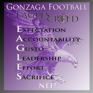 Gonzaga Football - Eagles Creed