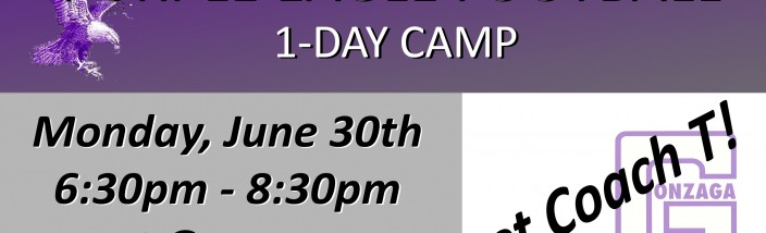 Purple Eagle Football Camp - June 30 2014 - flyer - banner