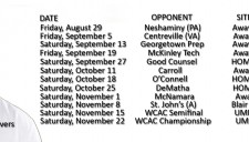 Gonzaga Football - 2014 Schedule