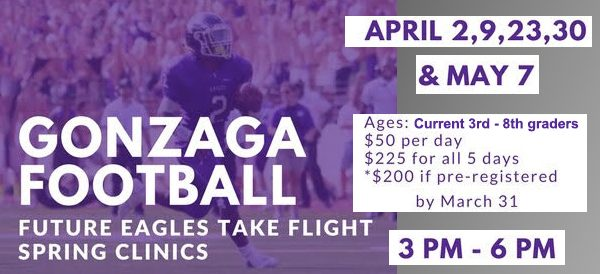 Future Eagles Take Flight Academy - Gonzaga Football Spring Clinics 2017
